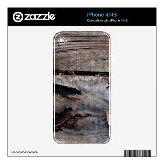 Fall Leaves on Old Wood Decal For The iPhone 4