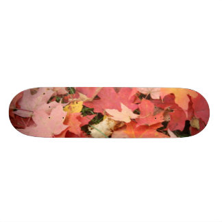 Fall Leaves on The Grass Skate Deck