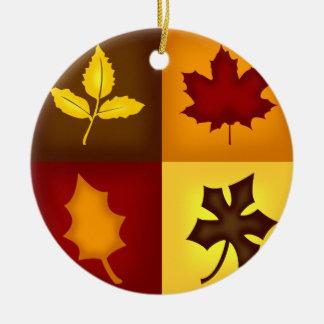 Fall Leaves Ornament - Seasonal Autumn Home Decor