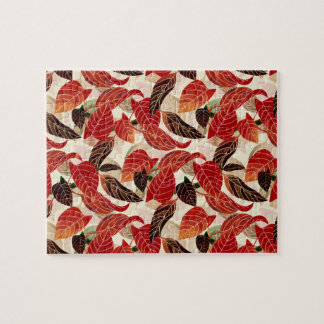 Fall leaves Pattern Jigsaw Puzzle