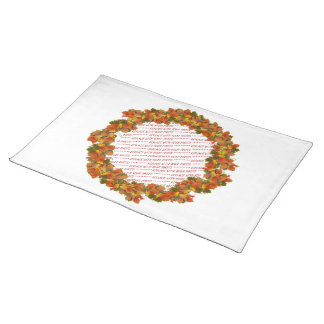 Fall Leaves Photo Frame Cloth Placemat