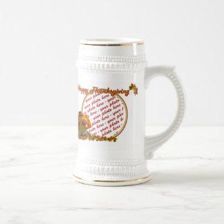 Fall Leaves & Pilgrim Turkey  Photo Frame Coffee Mug