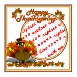 Fall Leaves & Pilgrim Turkey  Photo Frame Photo Cutout