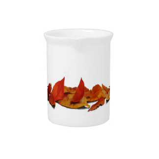 Fall leaves pitcher
