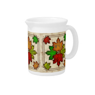 Fall Leaves Drink Pitchers