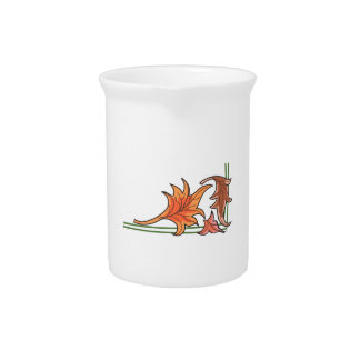 FALL LEAVES BEVERAGE PITCHERS
