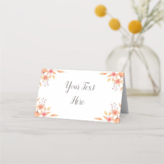 Fall Leaves Place Card