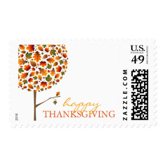 Fall Leaves Pop Tree Holiday Thanksgiving Stamps
