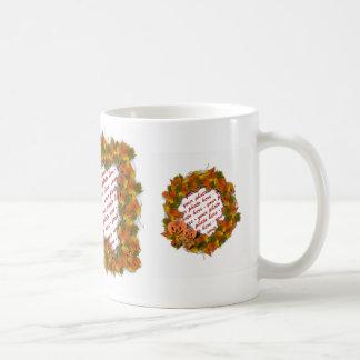 Fall Leaves & Pumpkin  Frame Classic White Coffee Mug