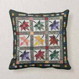 Fall Leaves Quilt Throw Pillow