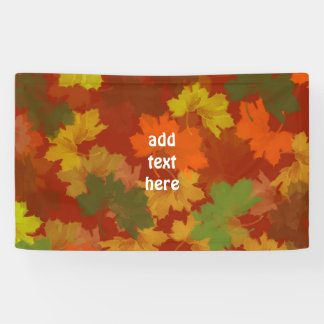 Fall Leaves - Red Background Banner