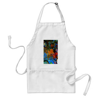 Fall leaves & reflection Fall leaf with Rocks in m Adult Apron