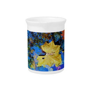 Fall leaves & reflection drink pitchers
