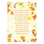 Fall Leaves Rehearsal Dinner Poem Invitation