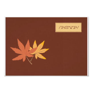 Fall Leaves RSVP Card