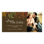 Fall Leaves Save the Date Photocard Photo Card Template