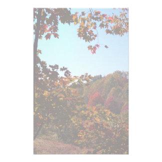 Fall Leaves Scene Stationery