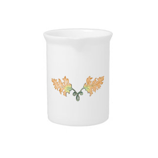 FALL LEAVES SCROLL DRINK PITCHERS