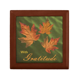 Fall Leaves -Select size and color of your box. Gift Boxes