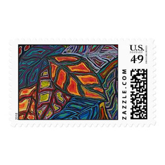 Fall Leaves -Select size and price of stamp.