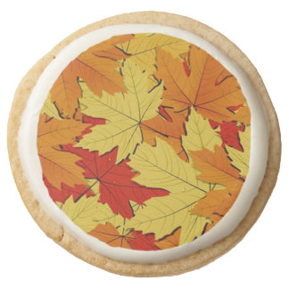 Fall Leaves Shortbread Icing Cookies