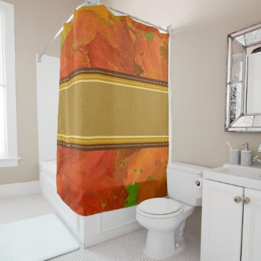 Halloween Themed Fall Leaves Shower Curtain