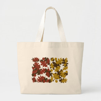 Fall Leaves Silhouette Colors Design Canvas Bags