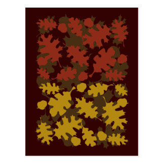 Fall Leaves Silhouette Colors Design Post Card