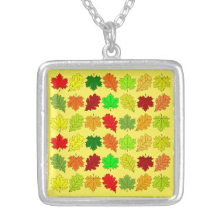 Fall Leaves Silver Plated Necklace