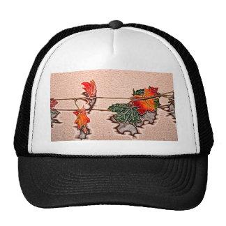 fall leaves sketch image autumn leaf orange trucker hats