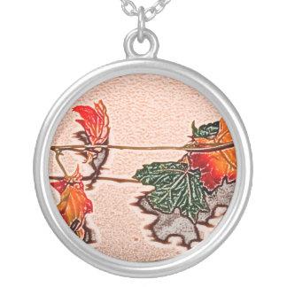 fall leaves sketch image autumn leaf orange pendant