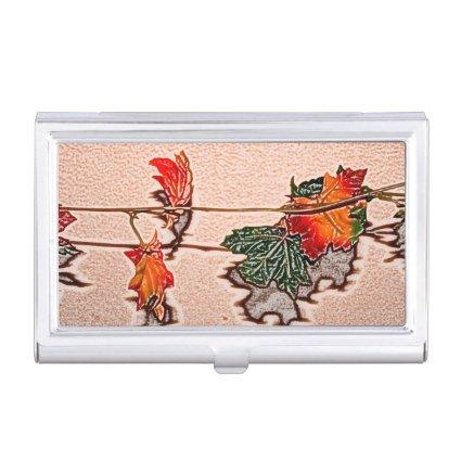 fall leaves sketch image autumn leaf orange business card holders