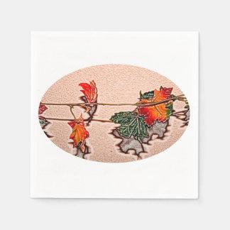 fall leaves sketch image autumn leaf orange paper napkin