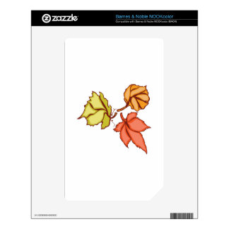 Fall Leaves Skin For NOOK Color