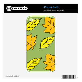 Fall Leaves Decals For The iPhone 4