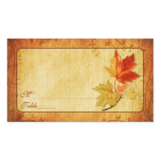 Fall Leaves Special Occasion Place Cards Business Card Templates
