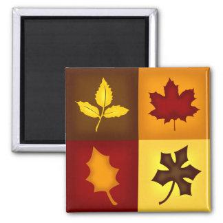 Fall Leaves Square Magnet - Seasonal Kitchen Decor