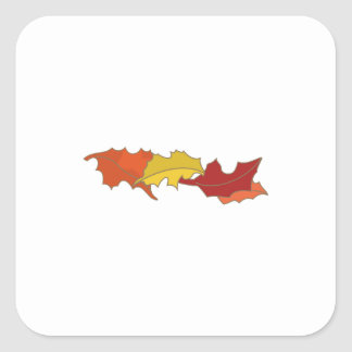 Fall Leaves Square Sticker