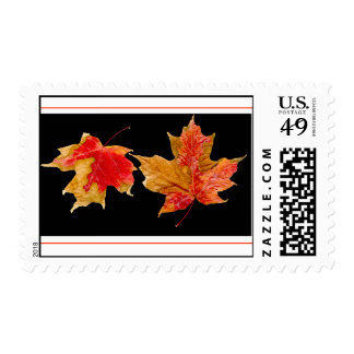 fall leaves stamp