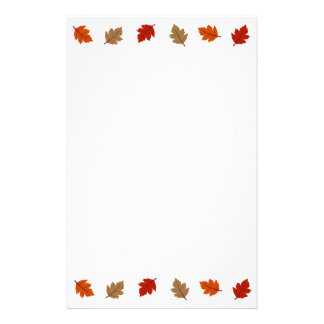 Fall leaves stationary stationery