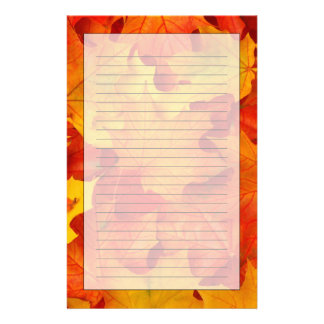 Fall Leaves Stationery