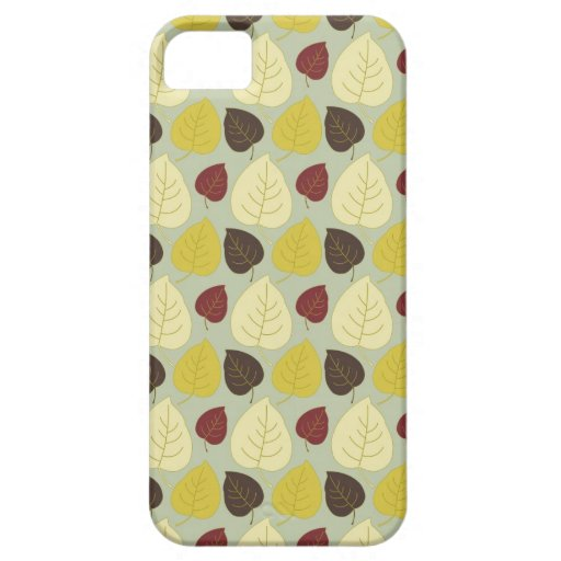 Fall Leaves, Stripes and Polka Dots iPhone 5 Cases