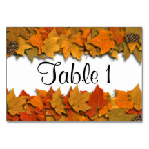 Fall Leaves Table Card
