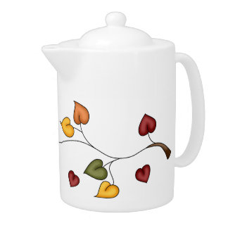 Fall Leaves Teapot