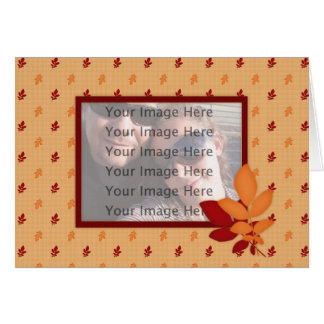 Fall Leaves Template Card