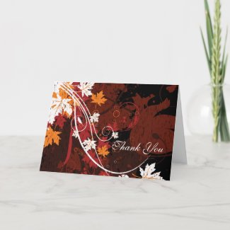 Fall Leaves Thank You Note Cards card