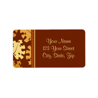 Fall Leaves Thanksgiving Address Labels
