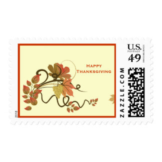 Fall Leaves Thanksgiving Custom Postage Stamp