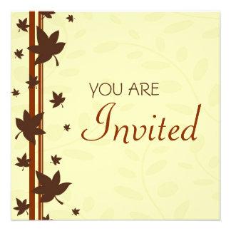 Fall Leaves Thanksgiving Invitation Card