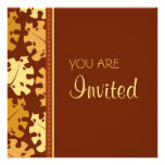 Fall Leaves Thanksgiving Invitation Card